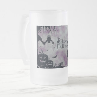 Happy Halloween Frosted Glass Beer Mug