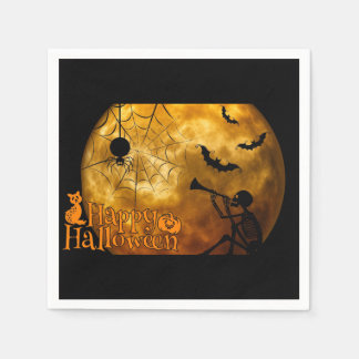 Happy Halloween Full Moon Paper Napkins