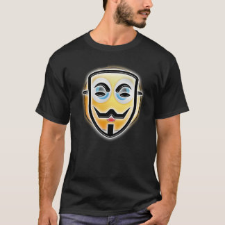 Happy Halloween Funny Anonymous Emoji Mask T-shirt