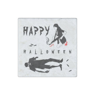 Happy Halloween Funny chic and unique custom Stone Magnets