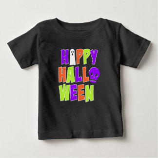 Happy Halloween Ghost and Skull T-shirt