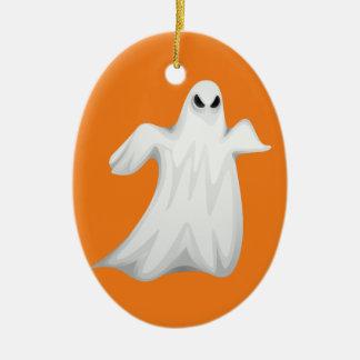 Happy Halloween Ghost Ceramic Ornament
