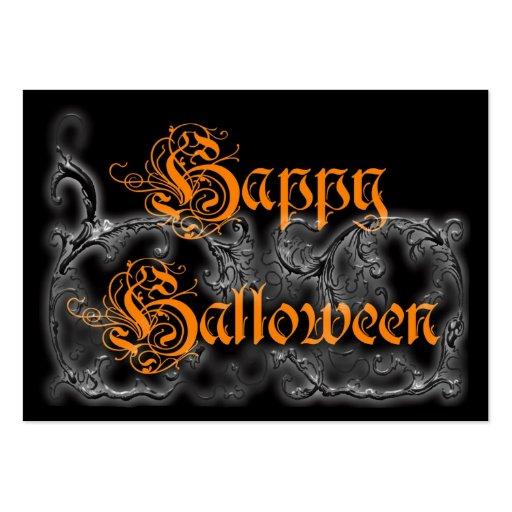 Happy Halloween Ghostly Scrolls Business Card