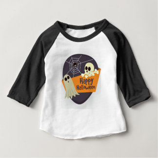 Happy Halloween Ghosts and Crossbones Baby T-Shirt