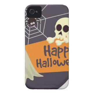 Happy Halloween Ghosts and Crossbones iPhone 4 Case