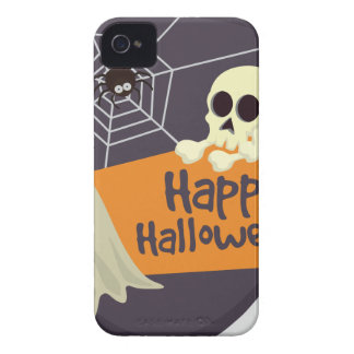 Happy Halloween Ghosts and Crossbones iPhone 4 Cover