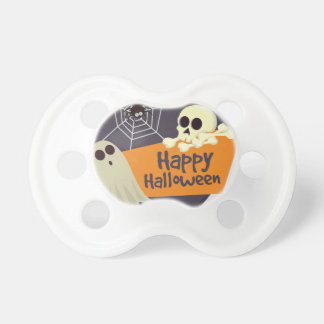 Happy Halloween Ghosts and Crossbones Pacifier