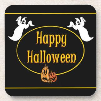 Happy Halloween Ghosts And Pumpkin Coaster