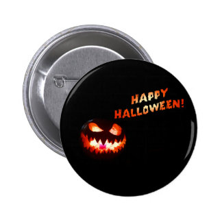 HAPPY HALLOWEEN - Glowing Jack-O-Lantern 2 Inch Round Button