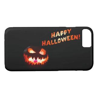 HAPPY HALLOWEEN - Glowing Jack-O-Lantern iPhone 8/7 Case