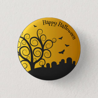 Happy Halloween Graveyard | Pin Button