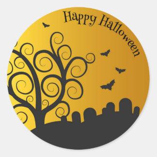 Happy Halloween Graveyard | Sticker Seal