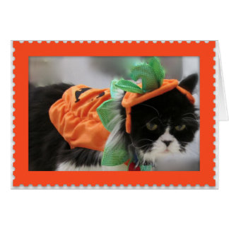 Happy Halloween-Grumpy Humphries - Pumpkin Card