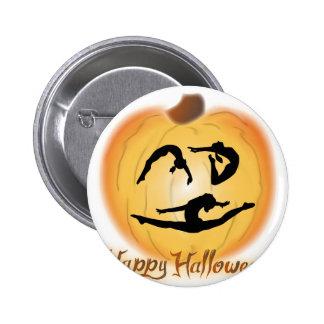 Happy Halloween Gymnastics 2 Inch Round Button