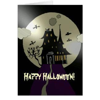 Happy Halloween  Haunted House Card
