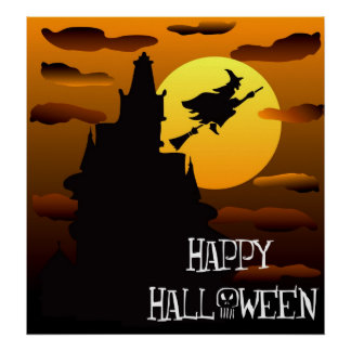 Happy Halloween Haunted House Poster 2