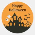 Happy Halloween Haunted House Stickers