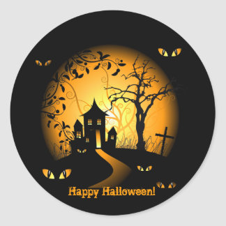 Happy Halloween! Haunted House Stickers