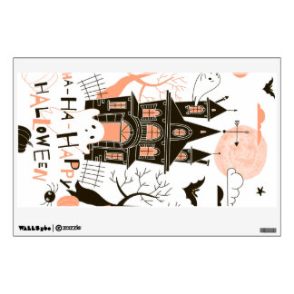 Happy Halloween Haunted House Wall Sticker