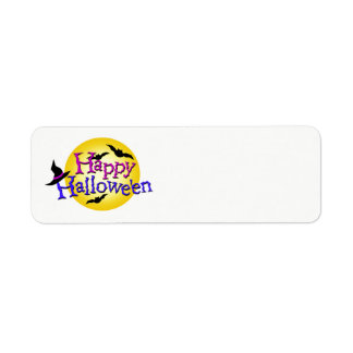 Happy Halloween Ilustrations Return Address Label