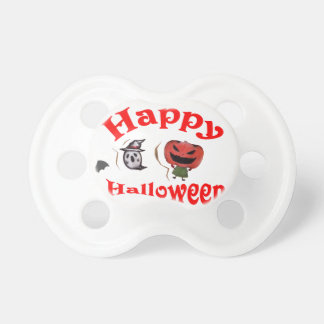 Happy Halloween Jack-o'-lantern and a ghost Pacifier