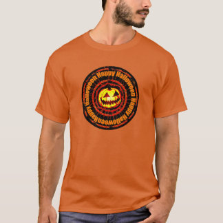 Happy Halloween- Jack O Lantern Bright Pumpkin. T-Shirt