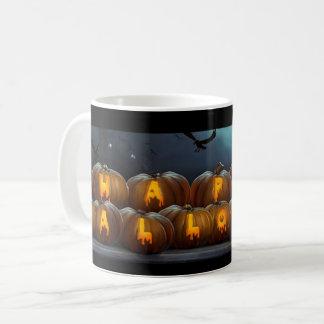 Happy Halloween Jack-O-Lantern pumpkins Spooky mug