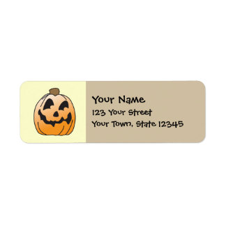 Happy Halloween Jack-O-Lantern Return Address Label