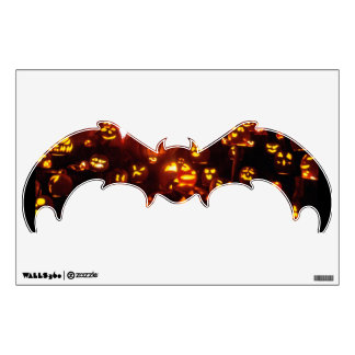 Happy Halloween-Jack-o'-lanterns Bat Wall Decal