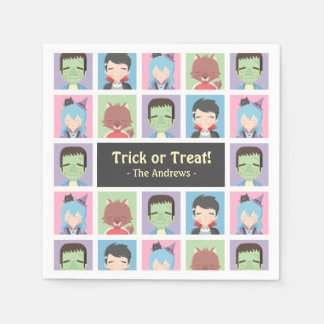 Happy Halloween Kid Monsters Pattern Party Napkins Disposable Napkin