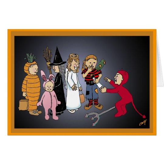 Happy Halloween Kids Party Card