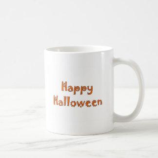 Happy Halloween- Kooky Orange & White Mug