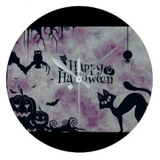Happy Halloween Large Clock
