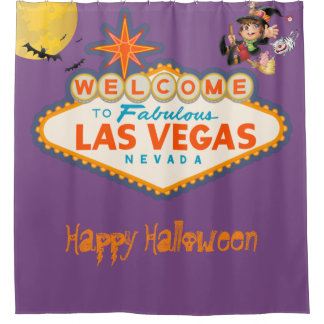 Happy Halloween Las Vegas Flying Witch