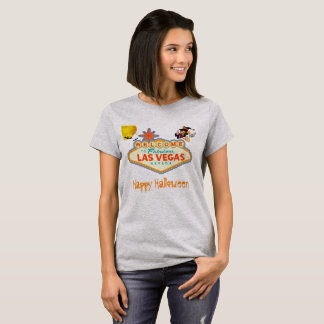 Happy Halloween Las Vegas Flying Witch T-Shirt