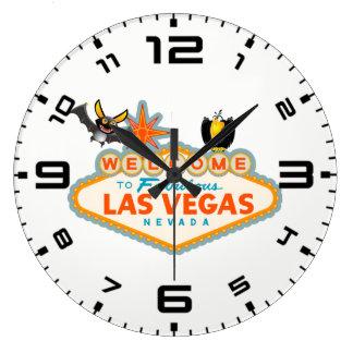 Happy Halloween Las Vegas Style Large Clock