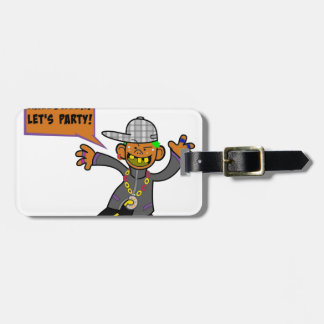 Happy Halloween Let's Party Bag Tag
