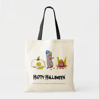 Happy Halloween Lunchbox Bunch Characters Tote Bag
