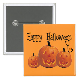 Happy Halloween MEDICAL T-shirts 2 Inch Square Button