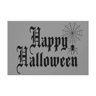 Happy Halloween minimalist typography Canvas Print