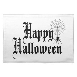 Happy Halloween minimalist typography Placemat