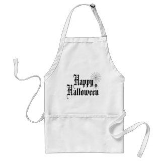 Happy Halloween minimalist typography Standard Apron