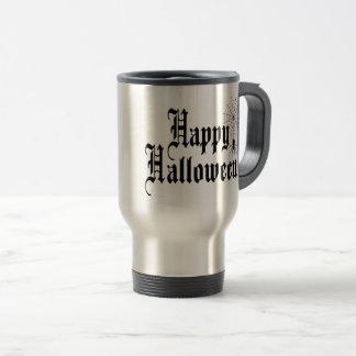 Happy Halloween minimalist typography Travel Mug