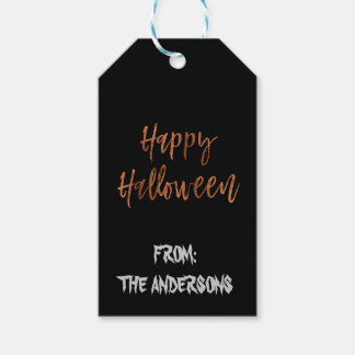 Happy Halloween Modern Halloween Gift Label Pack Of Gift Tags