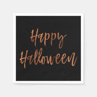 Happy Halloween Modern Halloween Napkins Paper Napkins