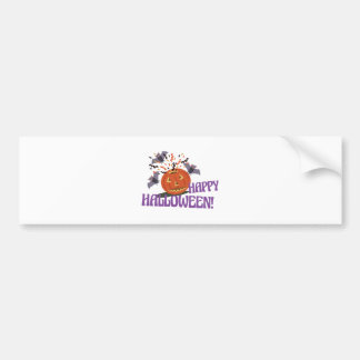 Happy Halloween Motif Bumper Sticker