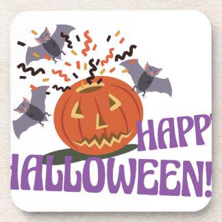 Happy Halloween Motif Drink Coasters