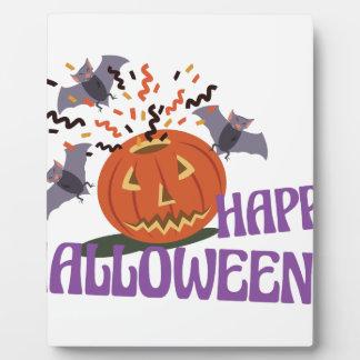 Happy Halloween Motif Plaque