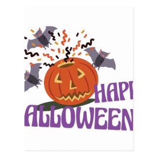 Happy Halloween Motif Postcard
