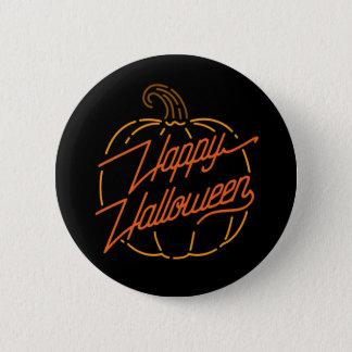 Happy Halloween Neon Button